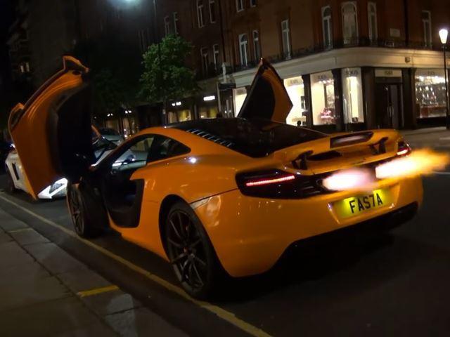 Vidéo : quand une McLaren 12C crache des flammes