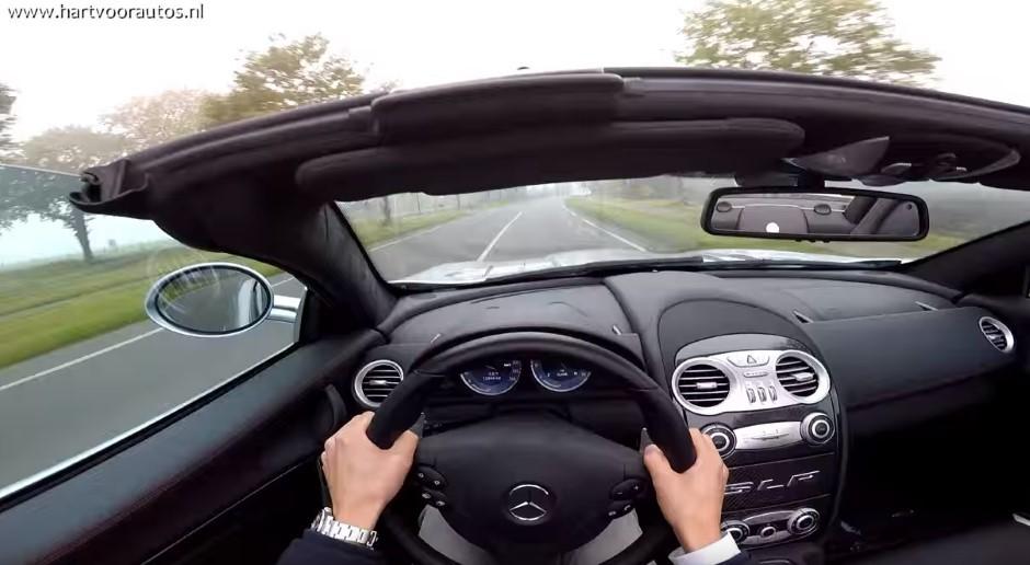 Vidéo : une virée à la première personne en Mercedes SLR