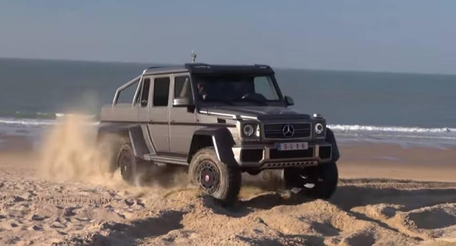 Vidéo : le Mercedes-AMG G 63 6x6 s'éclate sur la plage