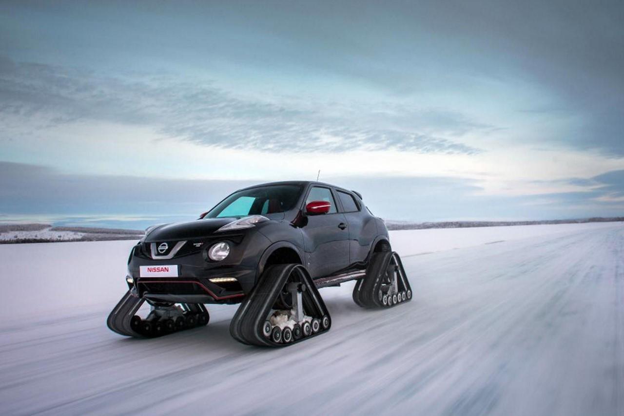 Insolite : un Nissan Juke Nismo équipé de chenilles