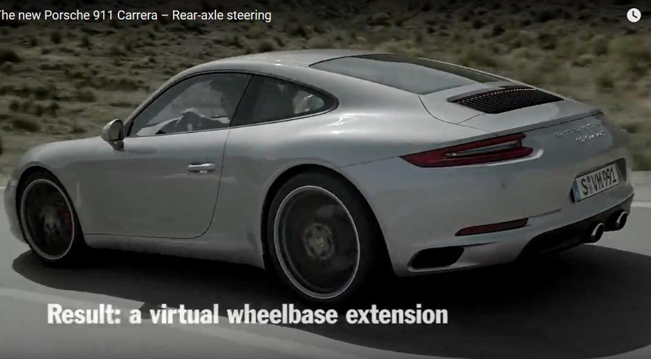 Vidéo : les roues arrière directrices de Porsche en action