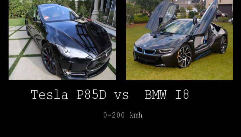 0 à 200 km/h, le duel Tesla S vs Bmw i8