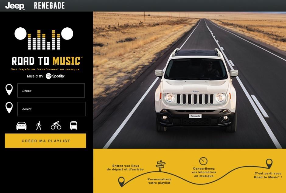 Jeep Renegade : les kilomètres deviennent de la musique avec Spotify
