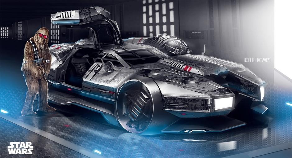 Star Wars : le Faucon Millenium version voiture