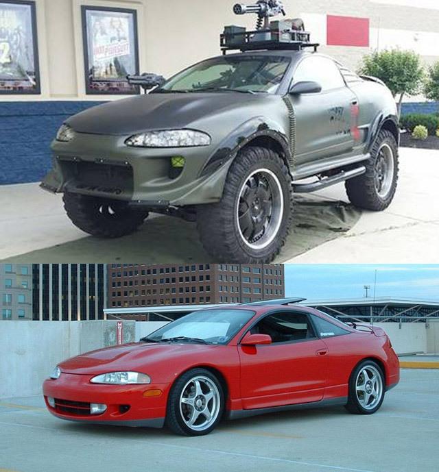 Avant-après : un coupé transformé en engin militaire