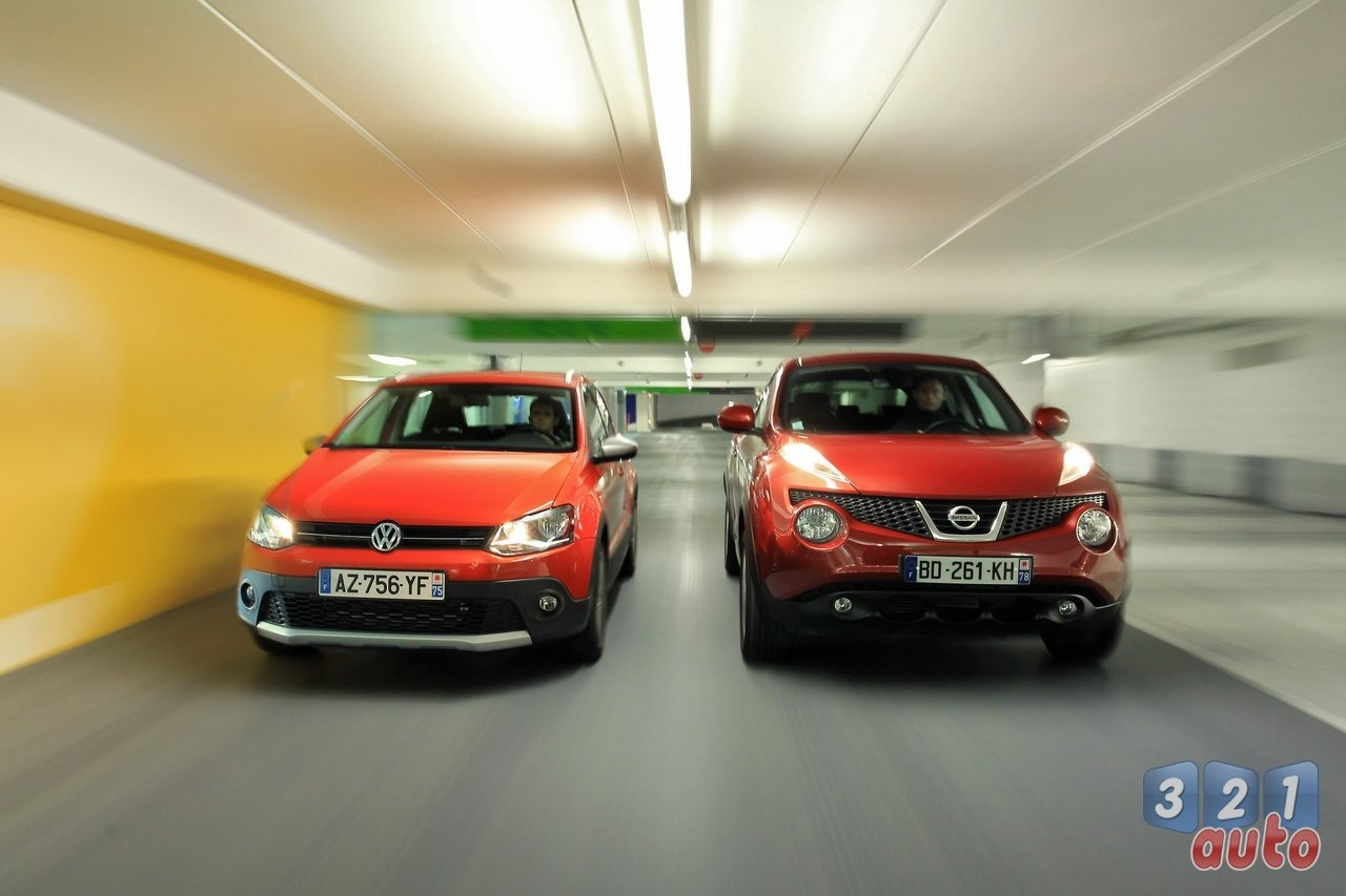 La VW Cross Polo affronte le Nissan Juke