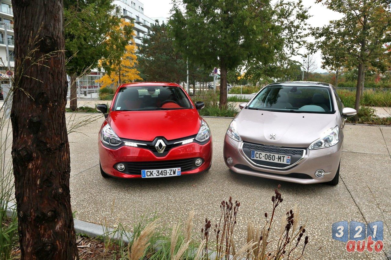 La Peugeot 208 affronte la Renault Clio IV