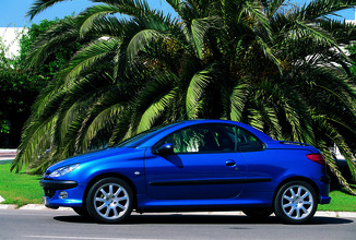 fiche technique peugeot 206 cc i 1 6 16v roland garros 2003. Black Bedroom Furniture Sets. Home Design Ideas