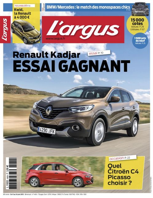 auto journal argus gratuit cote argus gratuit voiture occasion la centrale argus auto moto. Black Bedroom Furniture Sets. Home Design Ideas