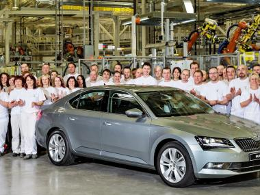 Skoda Superb 2015 usine de Kvasiny
